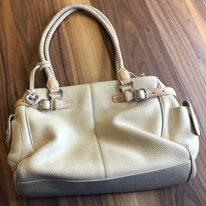 Brighton cream ivory leather handbag bag purse